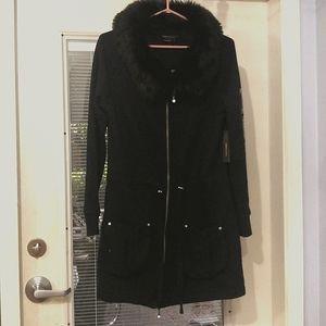 NWT BCBG long jacket w/ removable hood